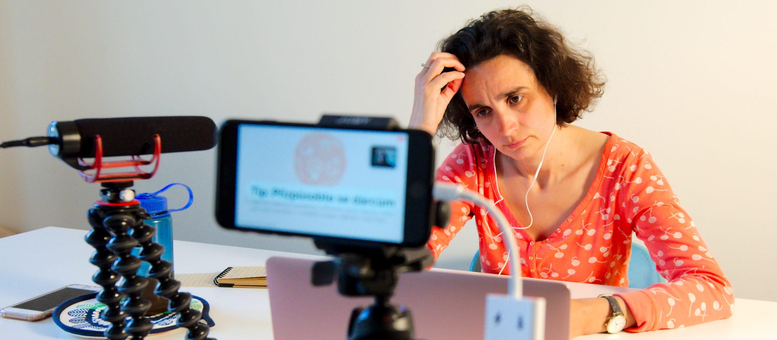 Věra Ondřichová moderuje webinář